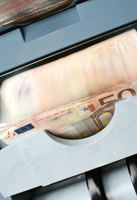 Comptant bitllets d'euro